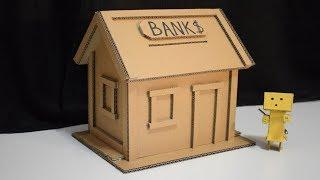 How To Make Bank House from Cardboard DIY