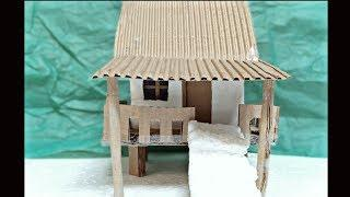 How to make a Small Cardboard house for Kids || DIY Cardboard house for Kids