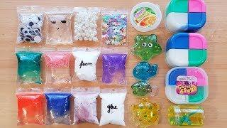 Making slime with bags and Store Bought Slime