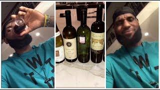After draining a few bottles of expensive wine, LeBron starts rapping to some classics