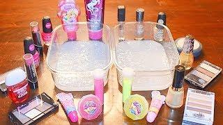 Mixing Makeup Into Slime! Gold vs Pink! Satisfying Slime Video!