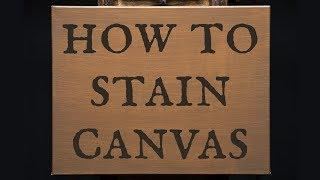 How to Stain a Canvas for Oil Paint - Applying the Foundation Layer