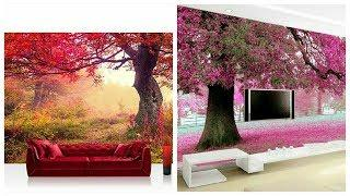 All New Beautifull Mural Wallpapers Designs Nature Wall Stickers Ideas