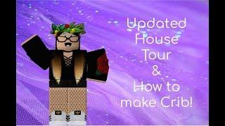 Updated Tumblr House Tour + How to make Crib! | Roblox Bloxburg Step-by-step tutorial + Tour!