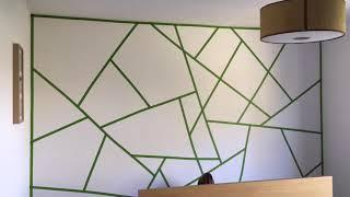 Triangle paint wall- the making of!