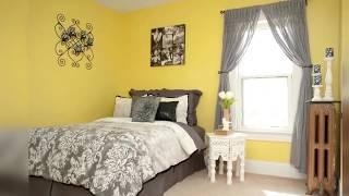 What color curtains go with yellow walls and brown furniture Marvelous