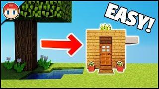 Minecraft: How To Build The Smallest Survival/Starter House! - Smallest Minecraft House