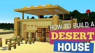 How to Make a Desert house in Minecraft: Desert House Design by Avomance (House Tutorial 2019)