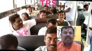 Look At The Drunken Party Workers Of TRS Party.. Openly Distributing Wine In Governemt Bus During