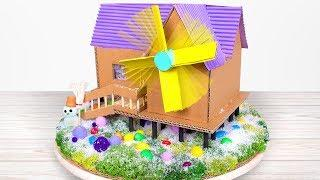 DIY Wind Turbine That Powers Lamps In A Toy House