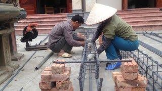 Amazing Construction Skills - Tips How To Make Iron In Building Construction House