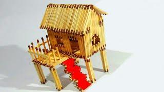 Matchstick Art and Craft Ideas | How to Make Matchstick House at Home
