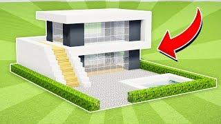 Minecraft: How to Build a Small Modern House Tutorial #13 (EASY!) on