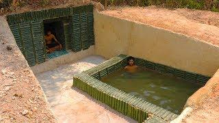 Dig Hole Ground to build Mini Swimming Pool in Underground Secret House Part 2