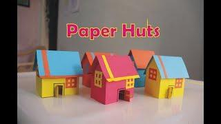 How to make Barbie House | Paper huts Making Very Easy | Paper House for Doll | kids House