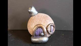 DIY Stone Fairy House With Polymer Clay