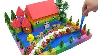 How To Make Beautiful Villa with Kinetic Sand, Mad Mattr, Flowers, Slime P3