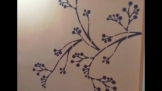 Asian Paint Stencils Design Work!