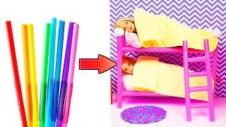 DIY Barbie Hacks | Making Easy Miniature Dollhouse | Creative Fun For Kids