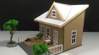 Cara Membuat Miniatur Rumah Dari   Kardus Bekas