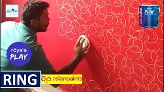 Asian Paints Royale Play Ring Texture Wall Paint By Expert
