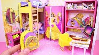 DIY Miniature Dollhouse Room ~ Belle (Beauty and the Beast) Room Decor, Backpack