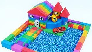 Learn Colors Kinetic Sand Garden House Beads Baby Boong Cars Toys Nursery Rhymes For Children