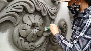 Beautiful And Easy - How To Make Cement Flowers | Essential Decorations For The House