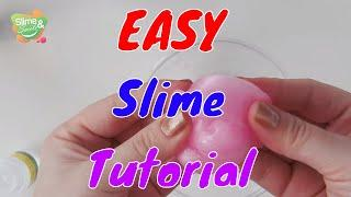 How to Make SLIME for Beginners in 2min! Two ingredients simple SLIME Tutorial. Borax and Glue Slime
