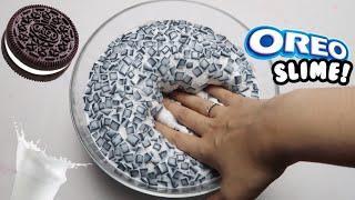How To Make Jumbo Oreo Flakes Slime!♡ DIY Realistic Oreo Slime Super Glossy and Satisfying! ASMR!