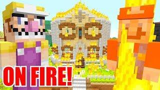 MARIO RESCUES FRIENDS FROM HOUSE FIRE! | Super Mario Series | Minecraft [290]