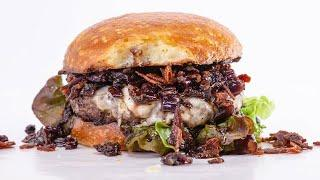 How To Make Half-Pound Beef Burgers with Drunken Red Onion Jam By Rachael