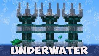 Minecraft: How to Build An Underwater Secret Base Tutorial (#2) - (Trident House)