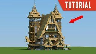 Minecraft Tutorial: How to build a Mansion - Medieval house/Blacksmiths/Stables tutorial (2018)