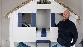 How to Make a Beach Surf House LOFT BED for a Kid's Room!