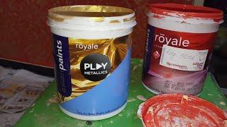 Texture royale play metallic gold Asian paints 0506