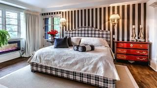 Beautiful Bedrooms with Striped Accent Walls, Creative Ideas