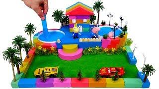 Twinkle Twinkle Little Star | How To Make Kinetic Sand Garden House With Slime Pool Toys Kids Songs