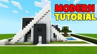 Minecraft Tutorial: How To Make A Modern A Frame House