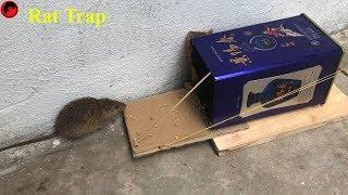 Best Mouse Trap/How To make A Mouse Trap Homemade /Rat Channel /Wine box Mouse Trap