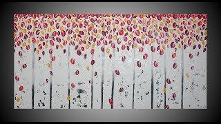 Birch Painting Tree painting acrylic painting abstract painting wall art by ilonka