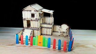 How to make a beautiful house by small matches in a very easy and simple way.