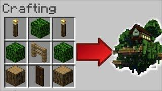 HOW TO INSTANTLY MAKE A TREE HOUSE IN MINECRAFT !! Minecraft Mods