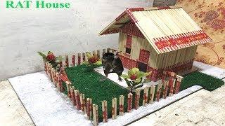 Green House For RAT/House For Mice/ How to Make a House for Rat with Chopstick/House for Rat