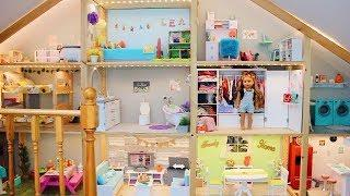 *HUGE* AG DOLLHOUSE TOUR! | AMERICAN GIRL DOLL HOUSE TOUR NEW 2018