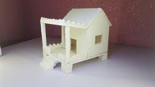 How to Make a Small Thermocol House Model - Craft Ideas for Kids -BN Creators