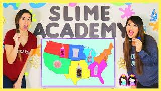 Throwing a Dart at a Map & Making Slime with Whatever It Lands On!