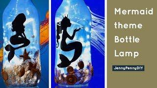 Bottle decorating ideas| diwali decoration| Chirstmas decoration|bottle art|bottle craft|mermaid