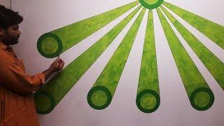 3d wall painting | 3d wall decoration effect | 3d wall texture new design effect  | interior design