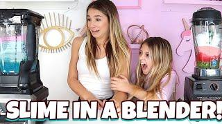 MAKING SLIME IN A BLENDER  | Switch up Challenge! | Quinn Sisters